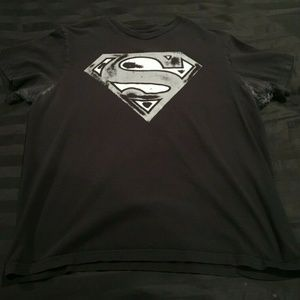 Mens Superman Logo Design Black T-Shirt Size Large